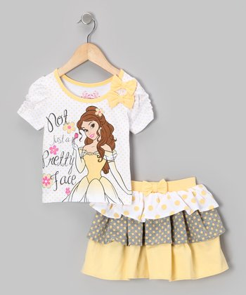 Yellow Belle 'Pretty Face' Top & Skort - Toddler
