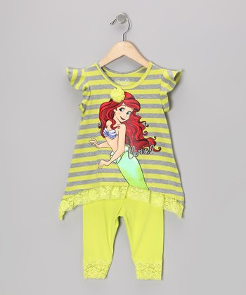 Citrus Stripe Little Mermaid Top & Leggings - Toddler