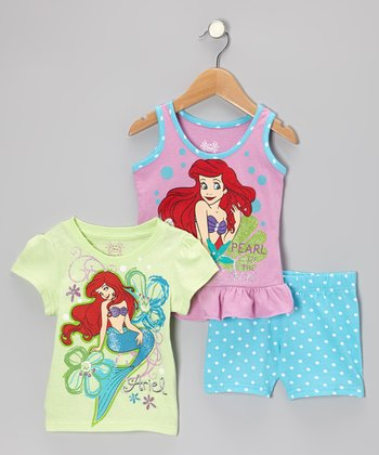 Light Green Ariel Tee Set - Toddler & Girls
