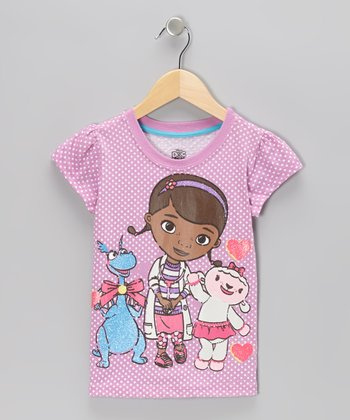 Pastel Purple Doc McStuffins Tee - Girls