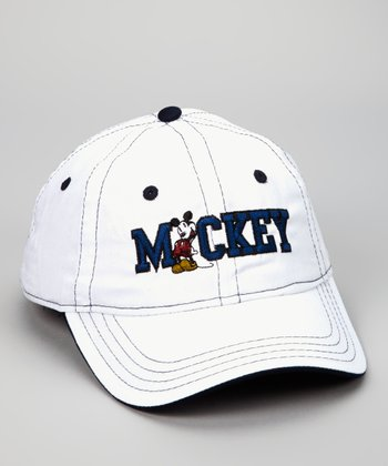 White 'Mickey' Baseball Cap