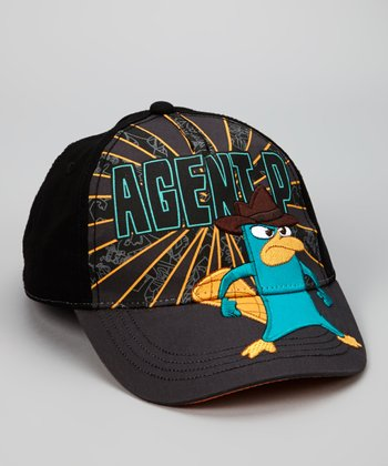 Gray 'Agent P' Shield Baseball Cap