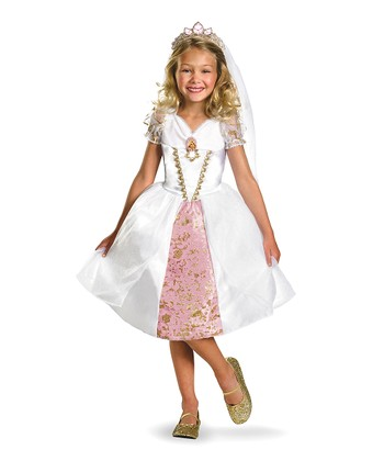 White Tangled Rapunzel Gown Dress-Up Set - Toddler & Girls