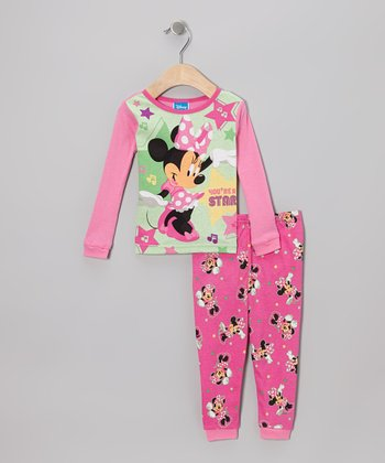 Pink Minnie Mouse Pajama Set - Infant