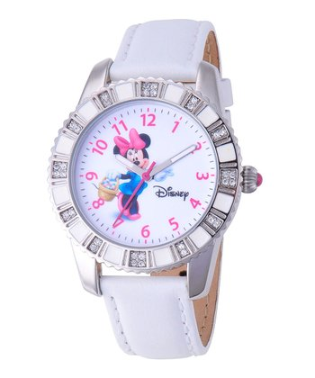 White Minnie Mouse Rhinestone Watch