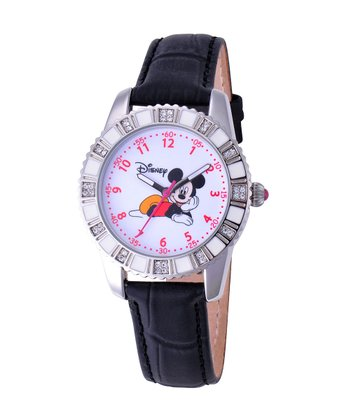 Black Mickey Mouse Rhinestone Watch