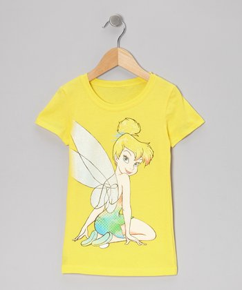 Yellow Tinker Bell Fashion Tee - Girls