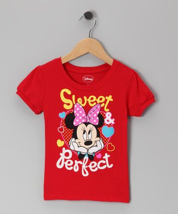 Red Minnie 'Sweet & Perfect' Tee - Infant