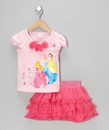 Pink Princesses Tee & Skirt - Infant, Toddler & Girls