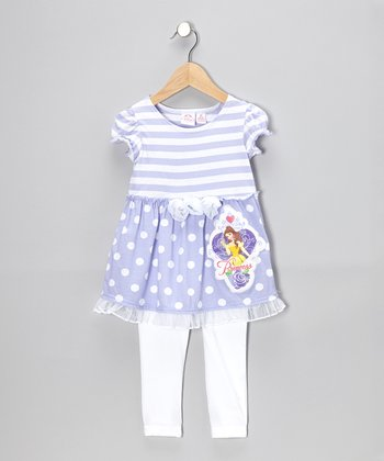 Lilac Polka Dot Tunic & Leggings - Infant, Toddler & Girls