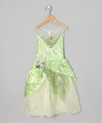 Green Princess Tiana Glitter Dress