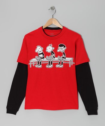 Red Diary of a Wimpy Kid Layered Tee - Kids