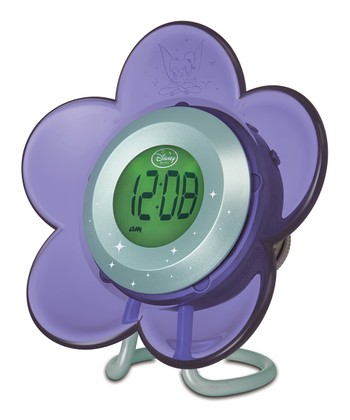 Purple Flower Alarm Clock Radio