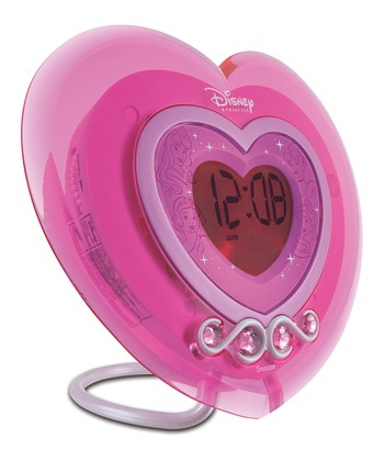 Pink Heart Alarm Clock Radio