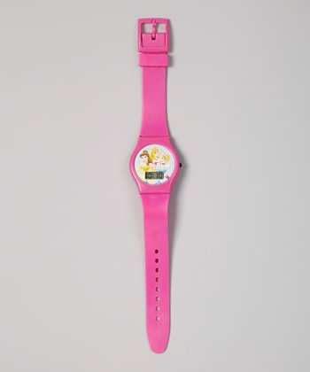 Hot Pink Disney Princess Digital Watch