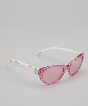 Pink Princess Bow Clip-Strip Sunglasses