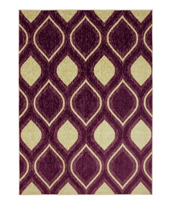Purple Ogee Rug
