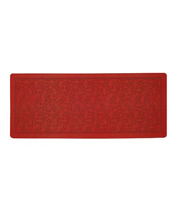 Red Scroll Mat