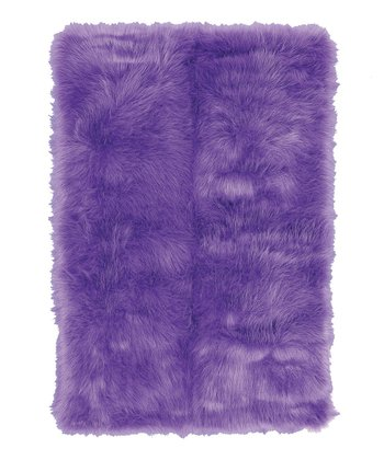 Purple Flokati Rug