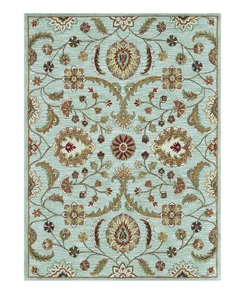 Light Blue Maxwell Wool Rug