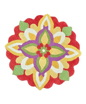 Yellow & Red Azalea Wool Rug