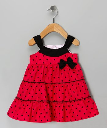 Red Polka Dot Dress - Girls