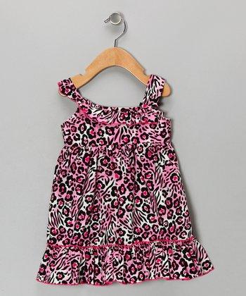 Pink Leopard Dress - Girls