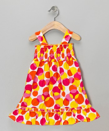 Pink Circle Dress - Girls