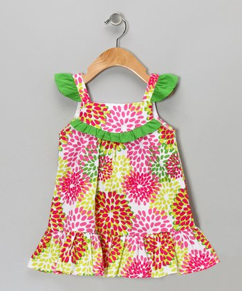 Pink Burst Dress - Girls