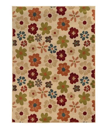 Ivory Flower Power Elliot Rug