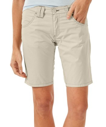 Oatmeal Birdwalk Organic Bermuda Shorts - Women