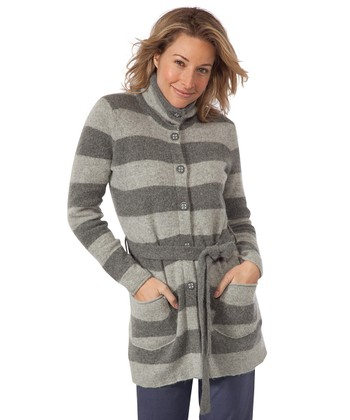 Heather Gray Heartfelt Wool-Blend Sweater Tunic - Women