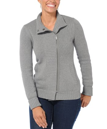Heather Gray Low-Key Merino Wool-Blend Sweater - Women