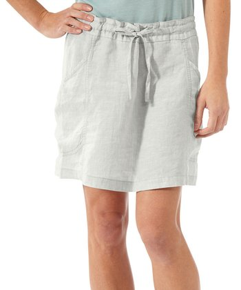 Chrome Flourish Linen Skirt - Women