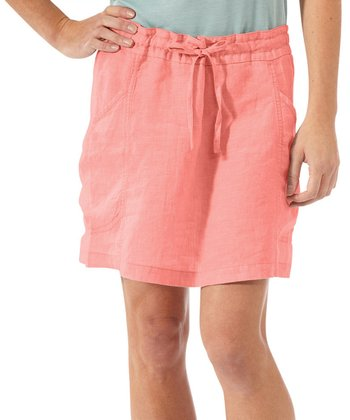 Watermelon Flourish Linen Skirt