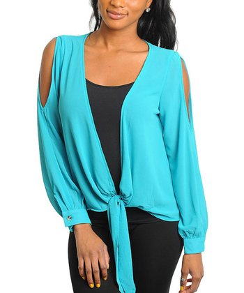 Jade Cutout Tie-Up Top
