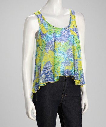 Green & Blue Butterfly Tank