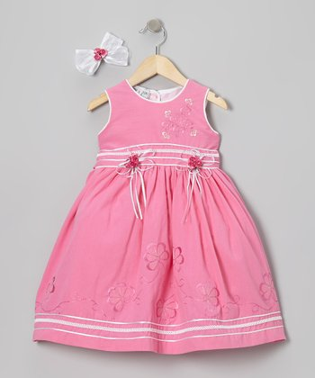Fuchsia Floral Dress & Bow Clip - Infant & Toddler