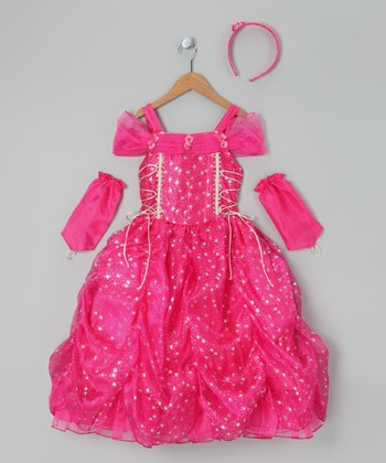 Fuchsia Star Princess Dress-Up Set - Toddler & Girls