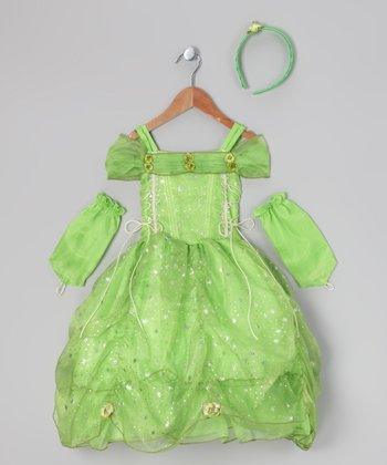 Lime Star Princess Dress-Up Set - Toddler & Girls