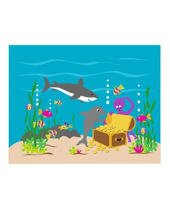 Sea Treasures Paint-By-Number Wall Mural Kit