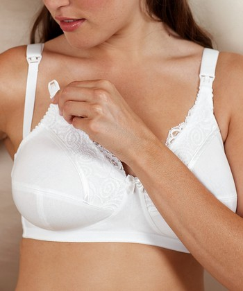 White Jasmine Full-Fit Wireless Nursing Bra - Women & Plus
