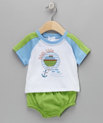 Blue 'High Tide' Tee & Diaper Cover - Infant