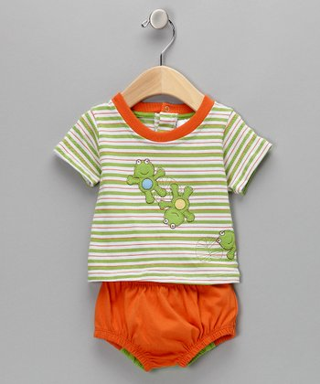 Orange Frog Tee & Diaper Cover - Infant