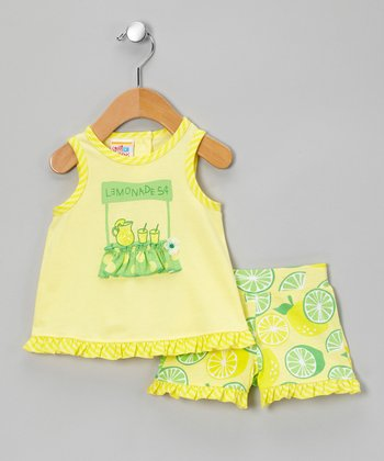 Lemon & Lime Ruffle Tank & Shorts - Infant, Toddler & Girls