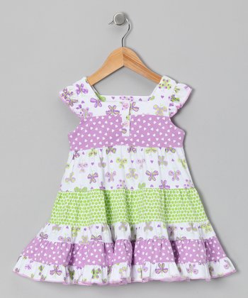 Lavender Papillon Peasant Dress - Infant & Toddler