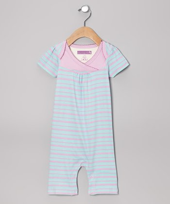 Clearwater Stripe Surplice Romper
