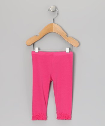 Hot Pink Ruffle Leggings