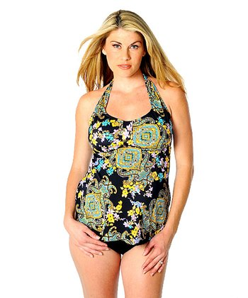 Belize Maternity Halter Two-Piece Swimsuit