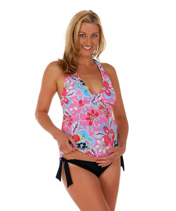 Crazy Daisy Maternity Retro Halter Two-Piece Swimsuit